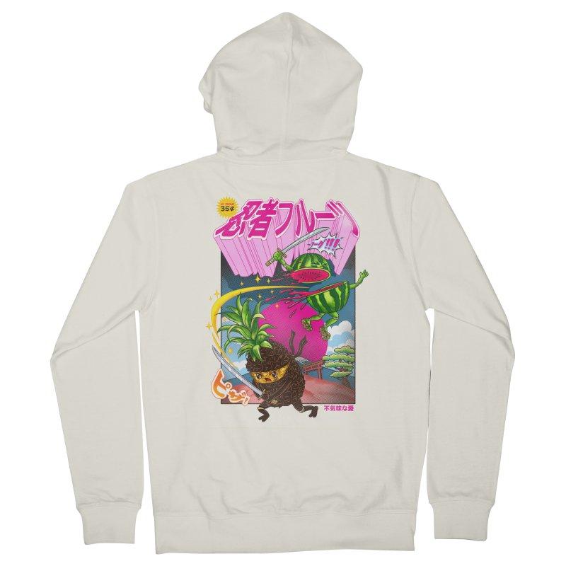Ninja Fruit Men's French Terry Zip-Up Hoody by kooky love's Artist Shop