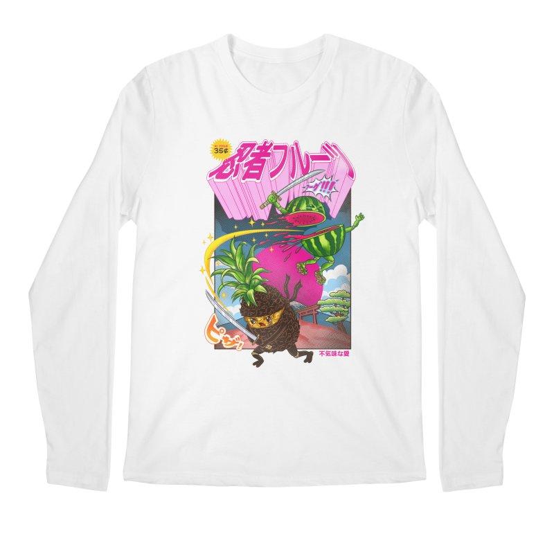 Ninja Fruit Men's Regular Longsleeve T-Shirt by kooky love's Artist Shop