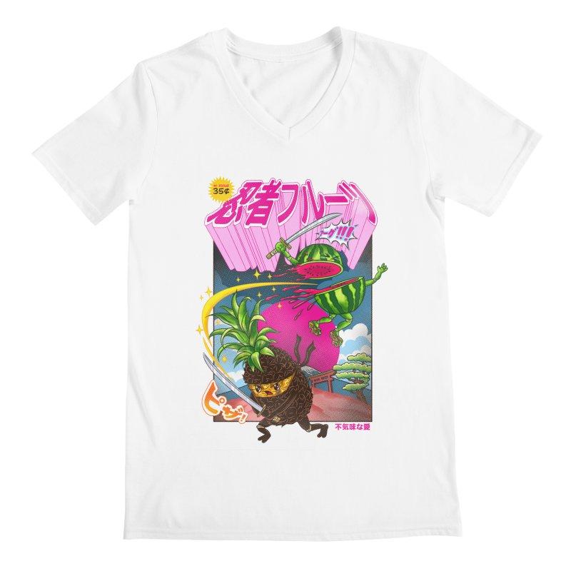 Ninja Fruit Men's Regular V-Neck by kooky love's Artist Shop