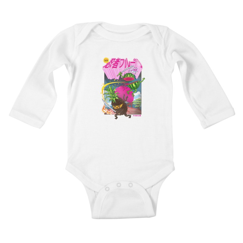 Ninja Fruit Kids Baby Longsleeve Bodysuit by kooky love's Artist Shop