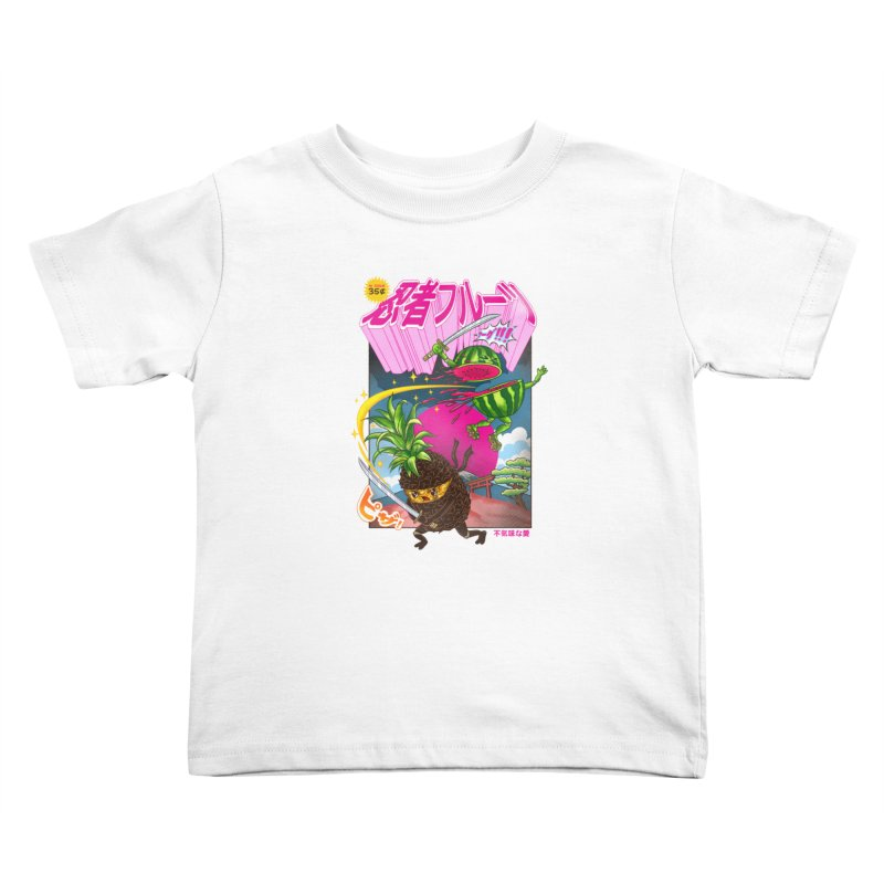 Ninja Fruit Kids Toddler T-Shirt by kooky love's Artist Shop