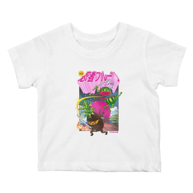 Ninja Fruit Kids Baby T-Shirt by kooky love's Artist Shop