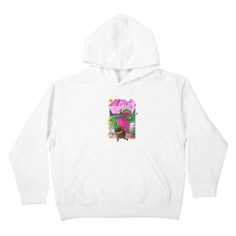 Ninja Fruit Kids Pullover Hoody by kooky love's Artist Shop