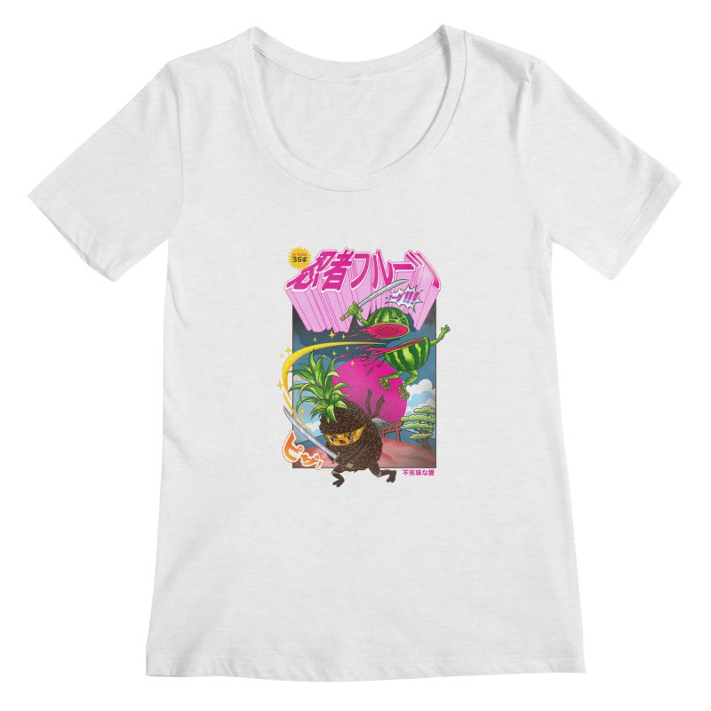 Ninja Fruit Women's Regular Scoop Neck by kooky love's Artist Shop