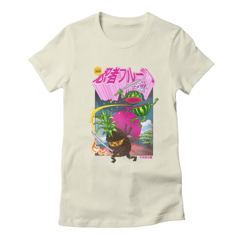 Ninja Fruit Women's Fitted T-Shirt by kooky love's Artist Shop
