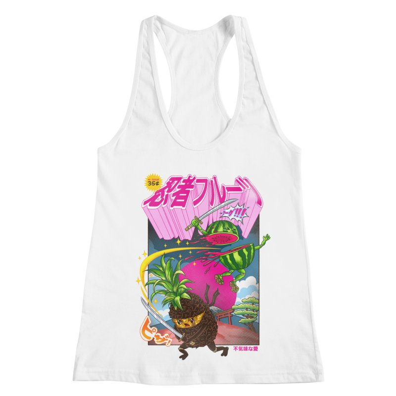 Ninja Fruit Women's Racerback Tank by kooky love's Artist Shop