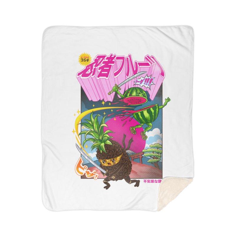 Ninja Fruit Home Sherpa Blanket Blanket by kooky love's Artist Shop