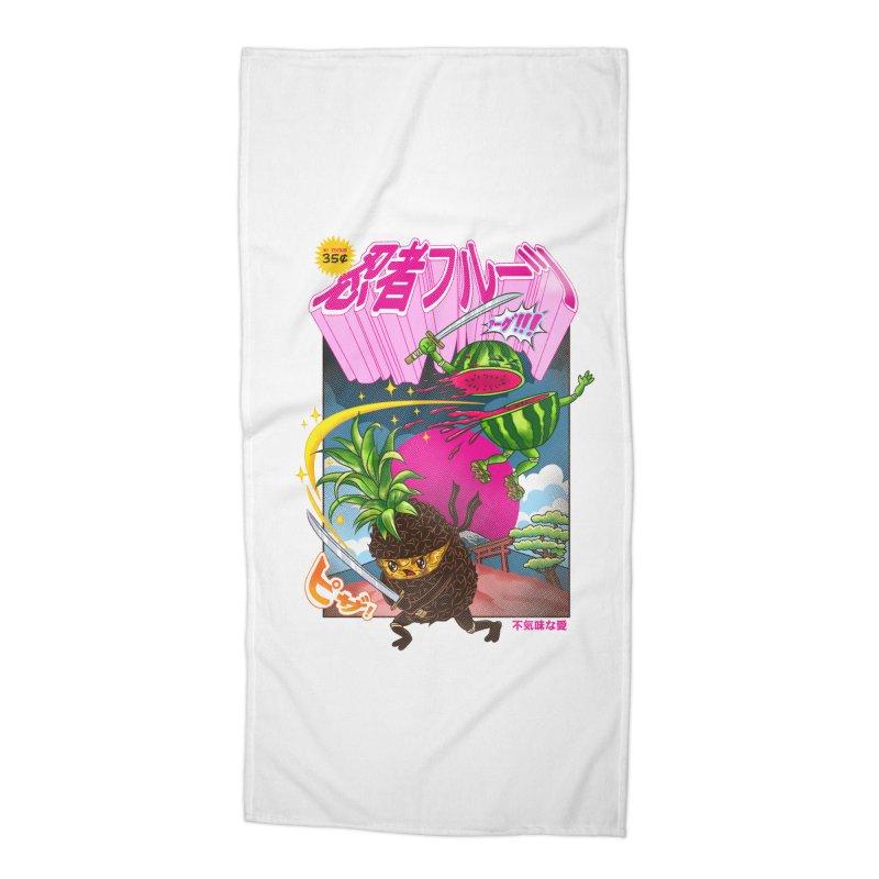 Ninja Fruit Accessories Beach Towel by kooky love's Artist Shop
