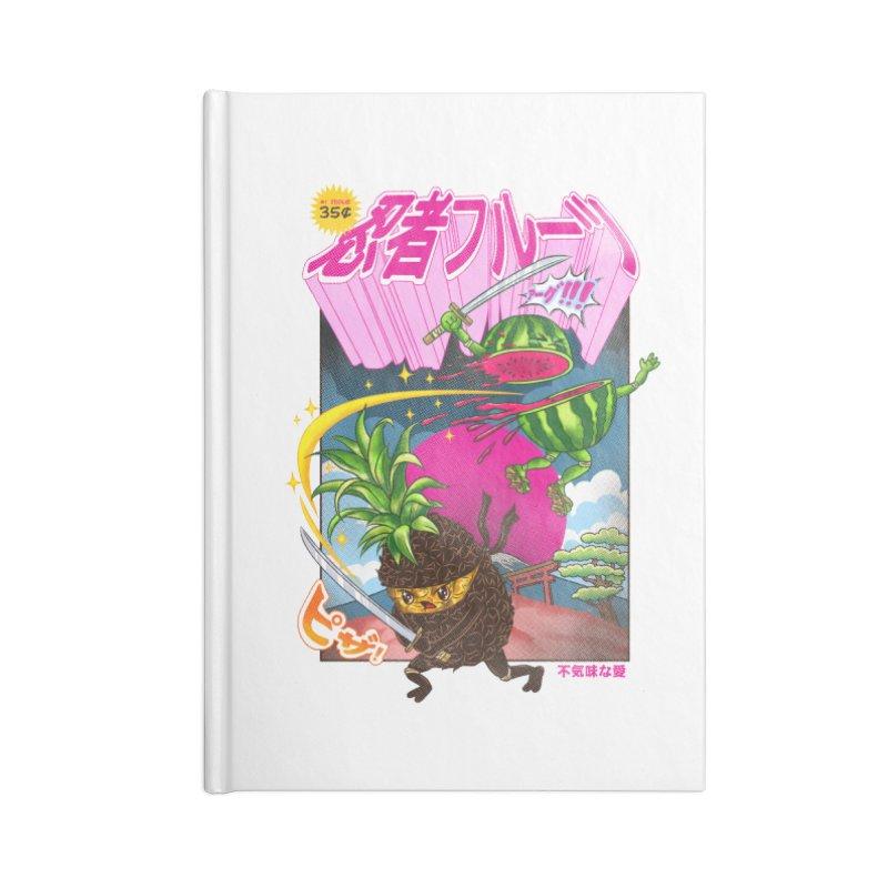 Ninja Fruit Accessories Lined Journal Notebook by kooky love's Artist Shop