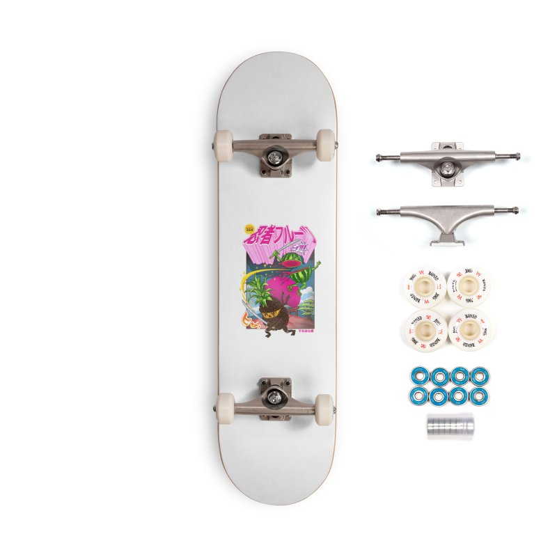 Ninja Fruit Accessories Complete - Premium Skateboard by kooky love's Artist Shop