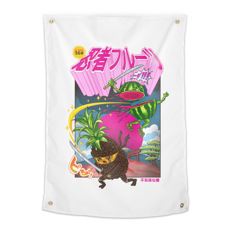 Ninja Fruit Home Tapestry by kooky love's Artist Shop