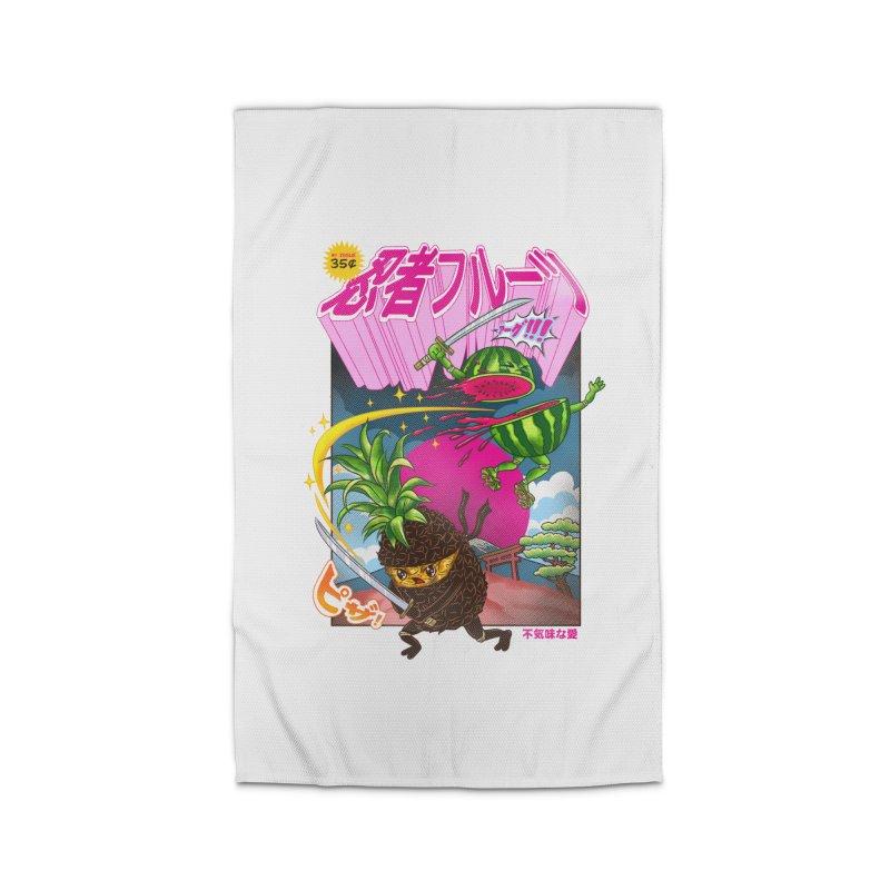 Ninja Fruit Home Rug by kooky love's Artist Shop