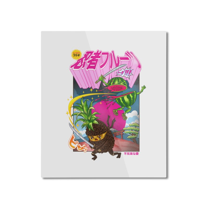 Ninja Fruit Home Mounted Aluminum Print by kooky love's Artist Shop
