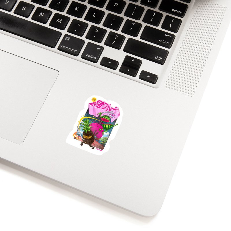 Ninja Fruit Accessories Sticker by kooky love's Artist Shop