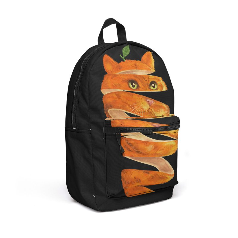 Orange Cat Accessories Backpack Bag by kooky love's Artist Shop