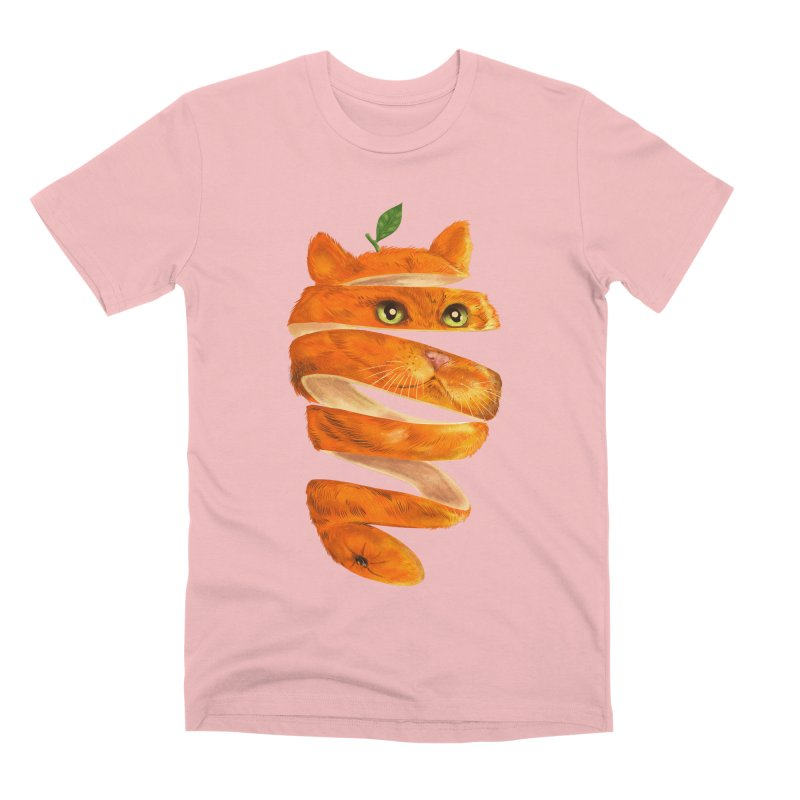 Orange Cat Men's Premium T-Shirt by kooky love's Artist Shop