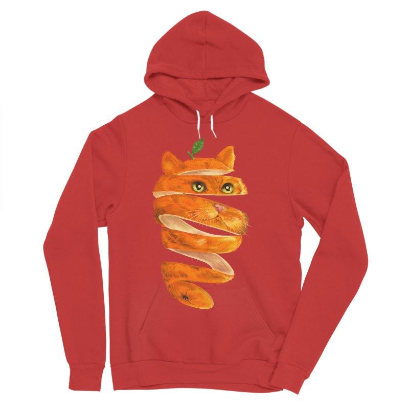 Orange Cat Men's Sponge Fleece Pullover Hoody by kooky love's Artist Shop