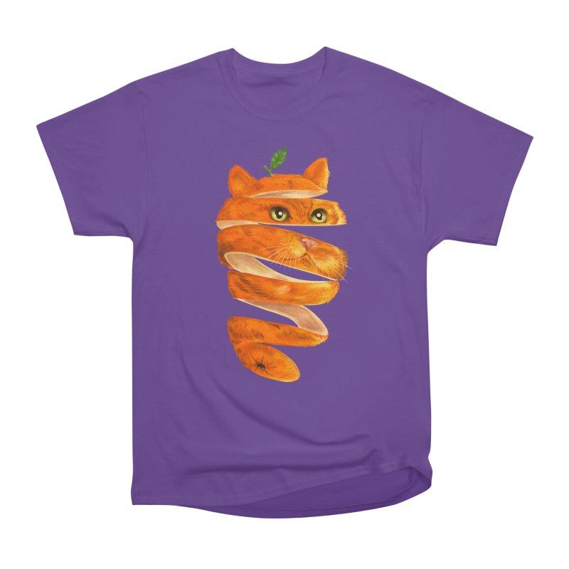 Orange Cat Men's Heavyweight T-Shirt by kooky love's Artist Shop