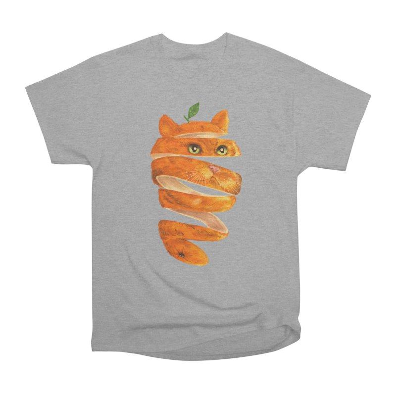 Orange Cat Women's Heavyweight Unisex T-Shirt by kooky love's Artist Shop