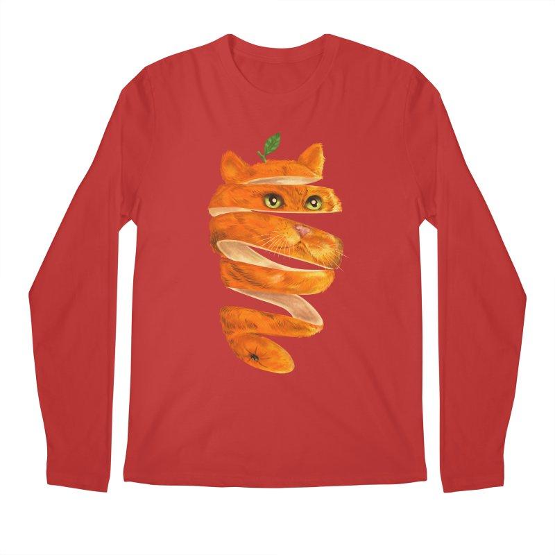 Orange Cat Men's Regular Longsleeve T-Shirt by kooky love's Artist Shop