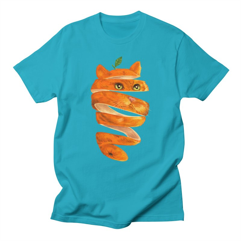 Orange Cat Men's Regular T-Shirt by kooky love's Artist Shop