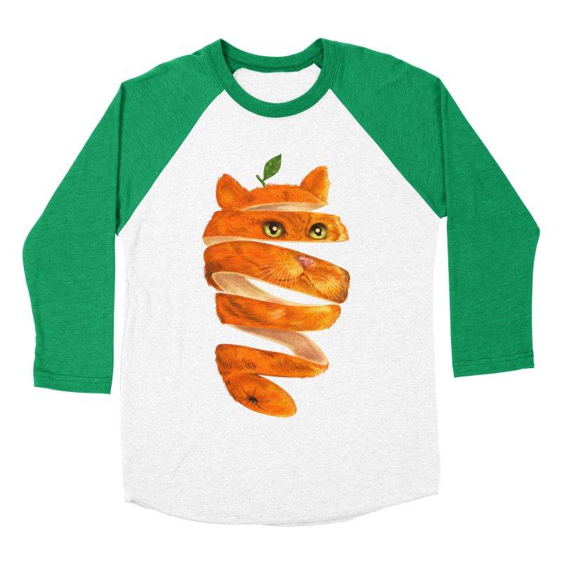 Orange Cat Men's Baseball Triblend Longsleeve T-Shirt by kooky love's Artist Shop