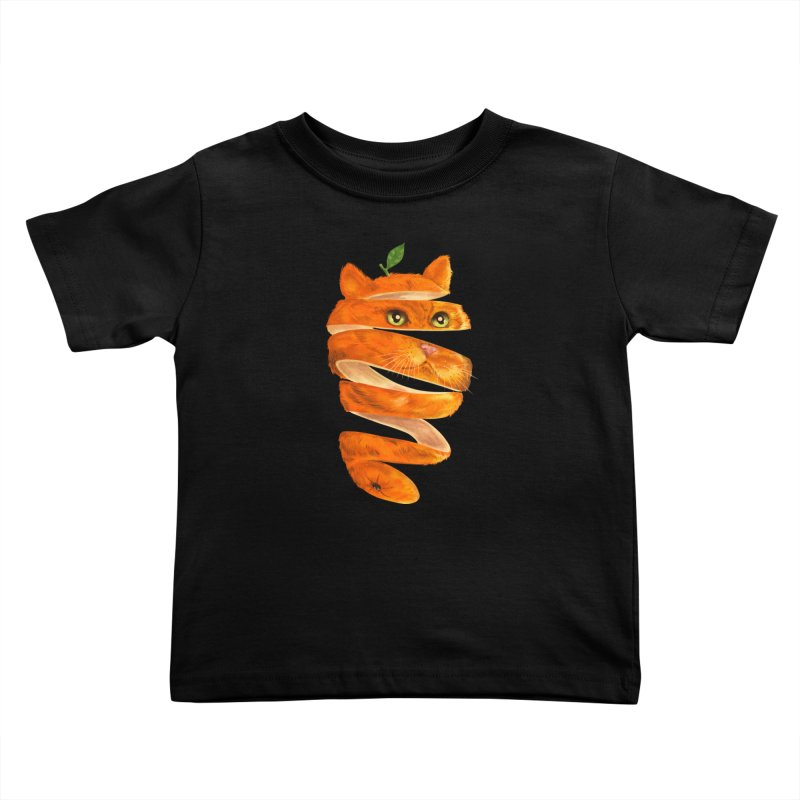 Orange Cat Kids Toddler T-Shirt by kooky love's Artist Shop