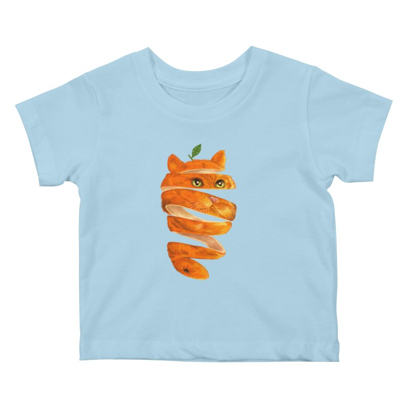 Orange Cat Kids Baby T-Shirt by kooky love's Artist Shop