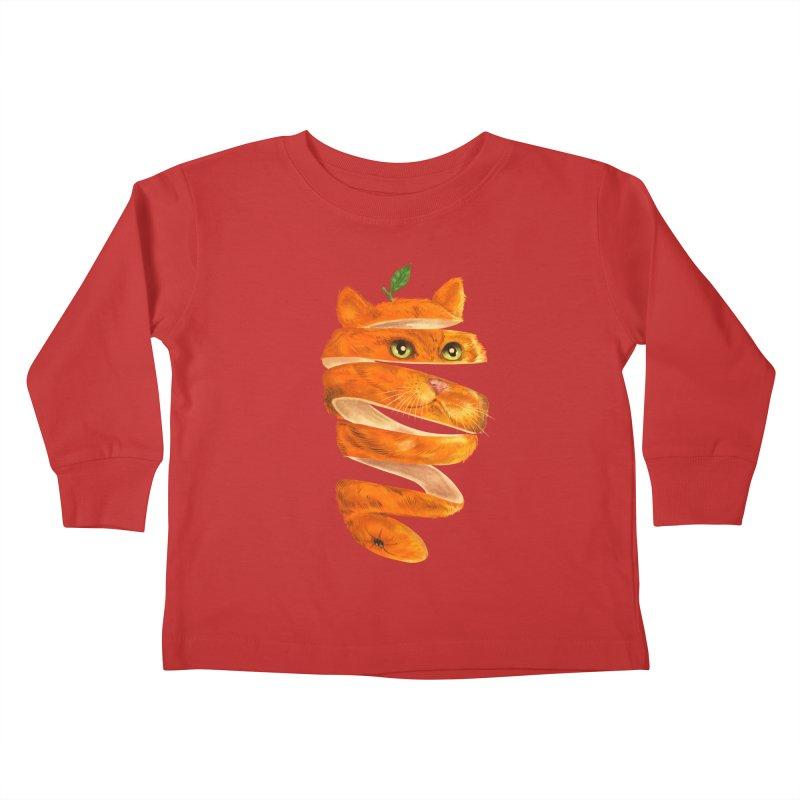 Orange Cat Kids Toddler Longsleeve T-Shirt by kooky love's Artist Shop