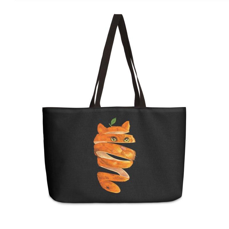 Orange Cat Accessories Weekender Bag Bag by kooky love's Artist Shop