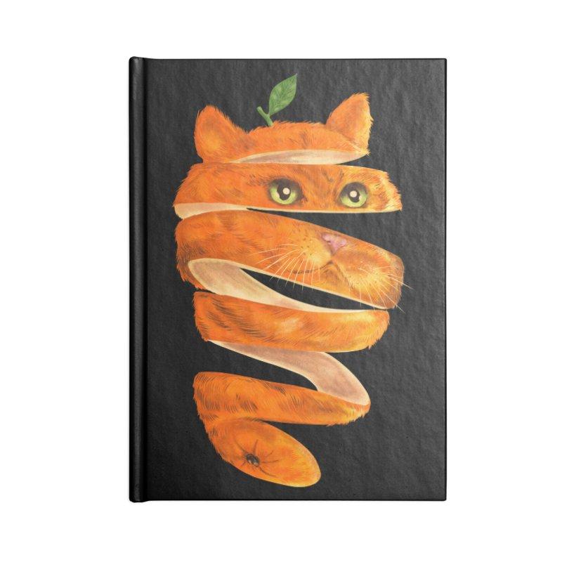 Orange Cat Accessories Lined Journal Notebook by kooky love's Artist Shop