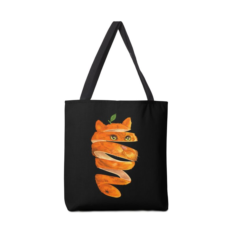 Orange Cat Accessories Tote Bag Bag by kooky love's Artist Shop