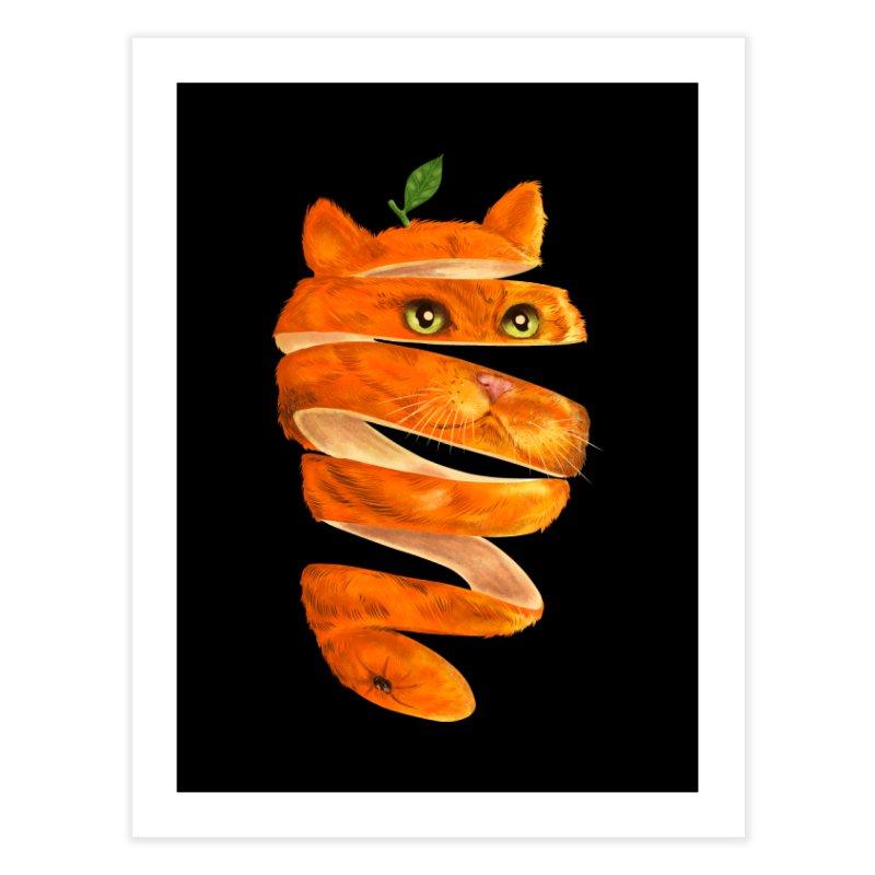 Orange Cat Home Fine Art Print by kooky love's Artist Shop