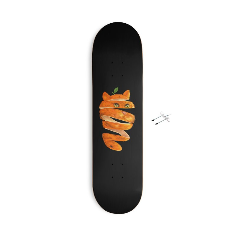 Orange Cat Accessories With Hanging Hardware Skateboard by kooky love's Artist Shop