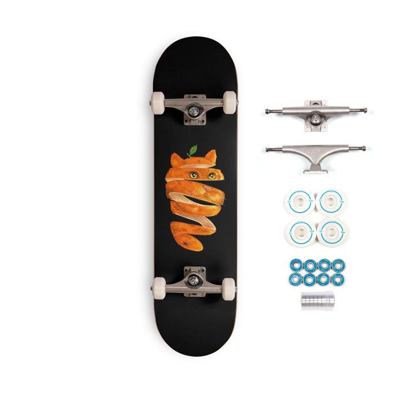 Orange Cat Accessories Complete - Basic Skateboard by kooky love's Artist Shop