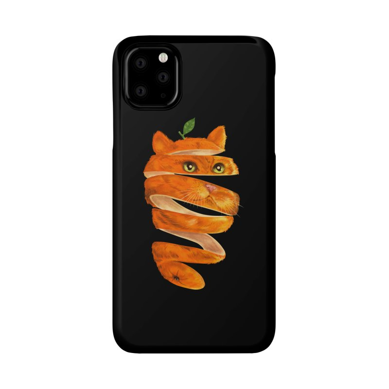 Orange Cat Accessories Phone Case by kooky love's Artist Shop