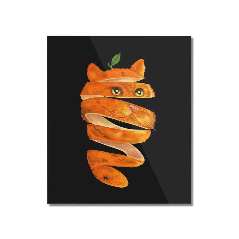 Orange Cat Home Mounted Acrylic Print by kooky love's Artist Shop