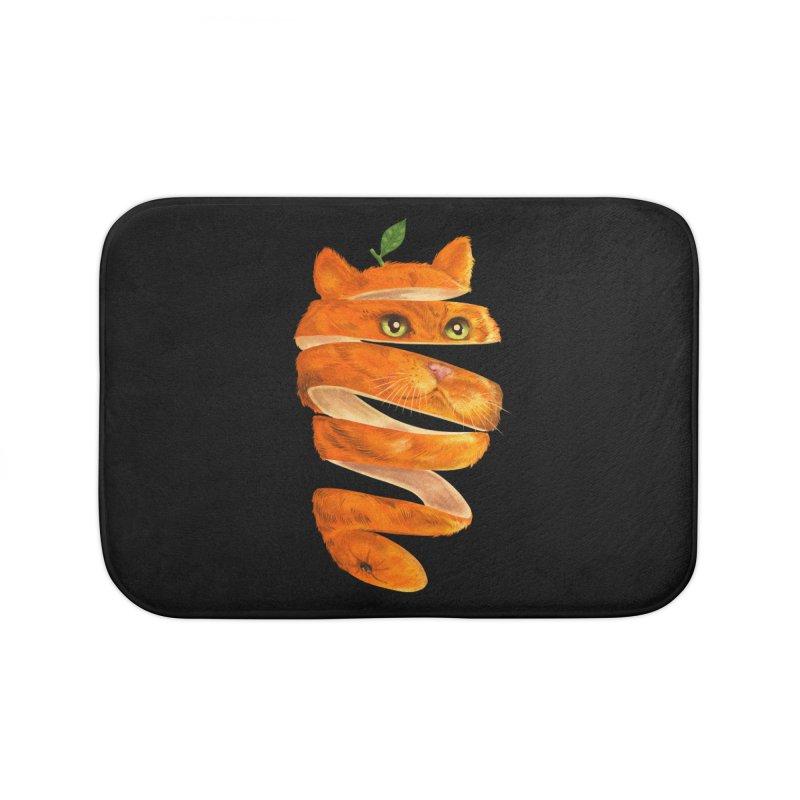 Orange Cat Home Bath Mat by kooky love's Artist Shop