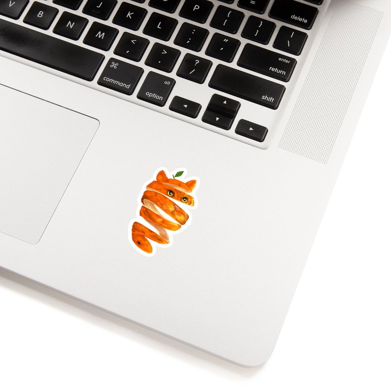 Orange Cat Accessories Sticker by kooky love's Artist Shop