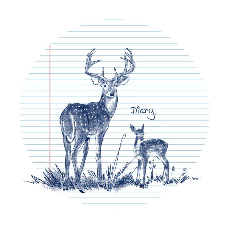 Deer Diary, Accessories Bag by kooky love's Artist Shop