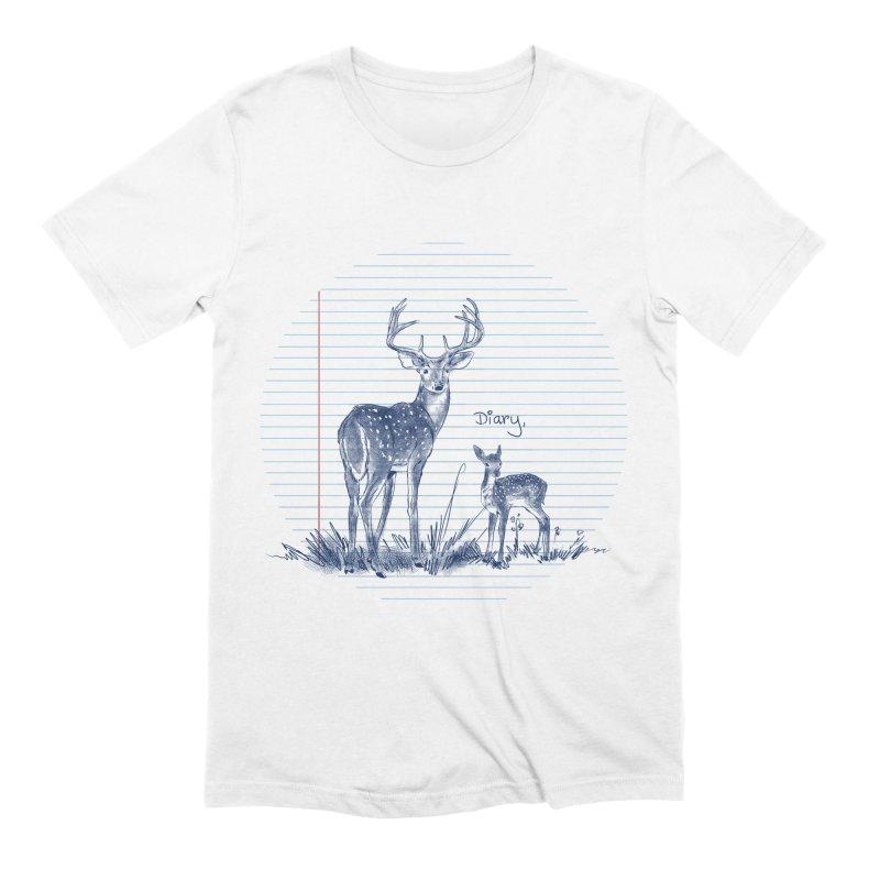 Deer Diary, Men's Extra Soft T-Shirt by kooky love's Artist Shop