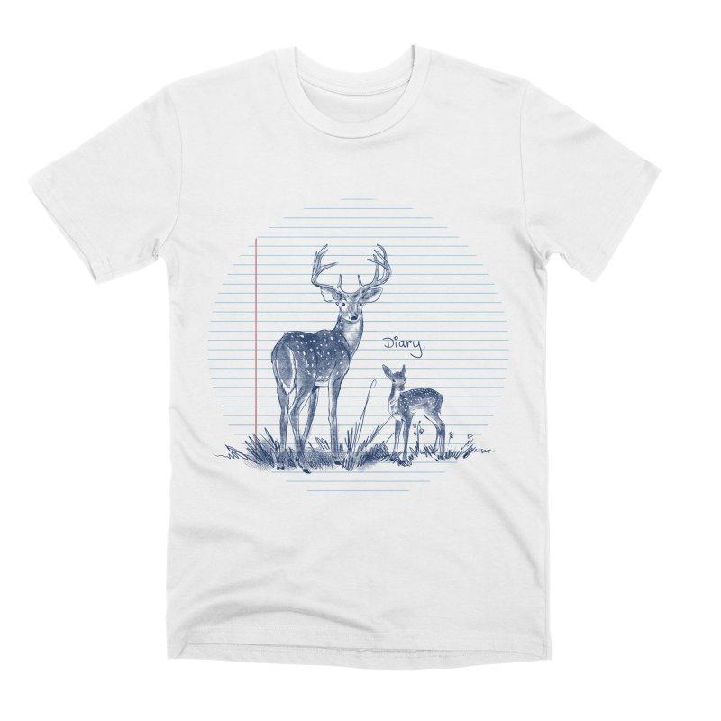 Deer Diary, Men's Premium T-Shirt by kooky love's Artist Shop
