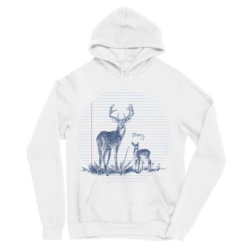 Deer Diary, Men's Sponge Fleece Pullover Hoody by kooky love's Artist Shop