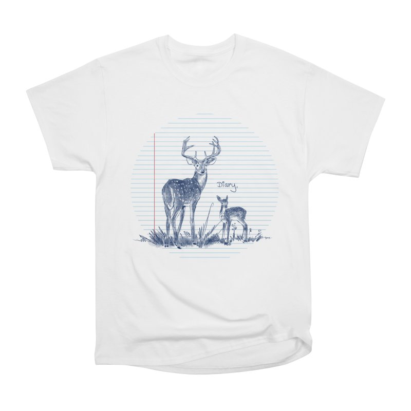 Deer Diary, Women's Heavyweight Unisex T-Shirt by kooky love's Artist Shop