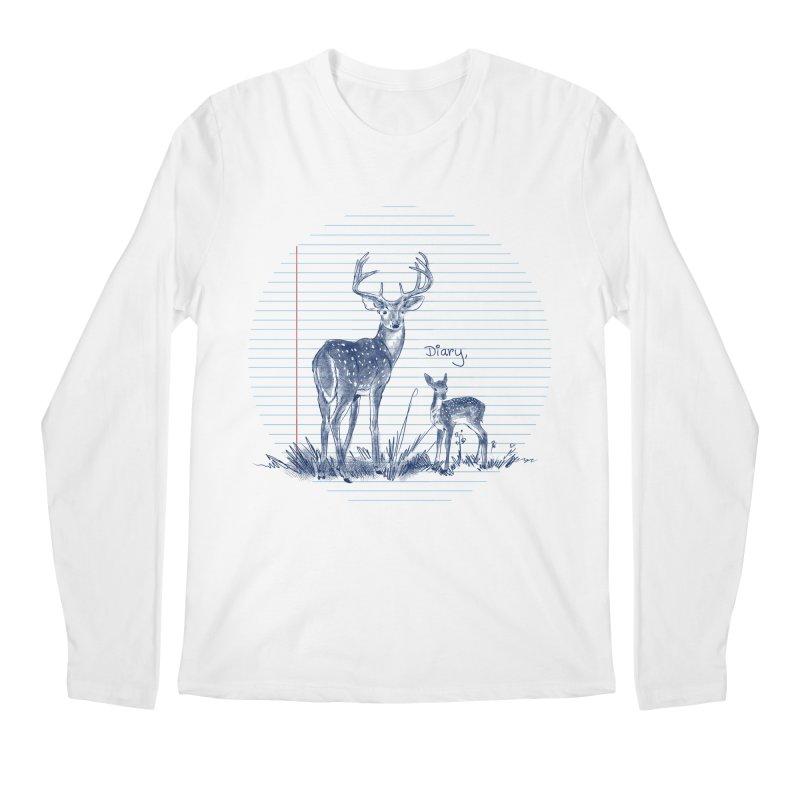 Deer Diary, Men's Regular Longsleeve T-Shirt by kooky love's Artist Shop