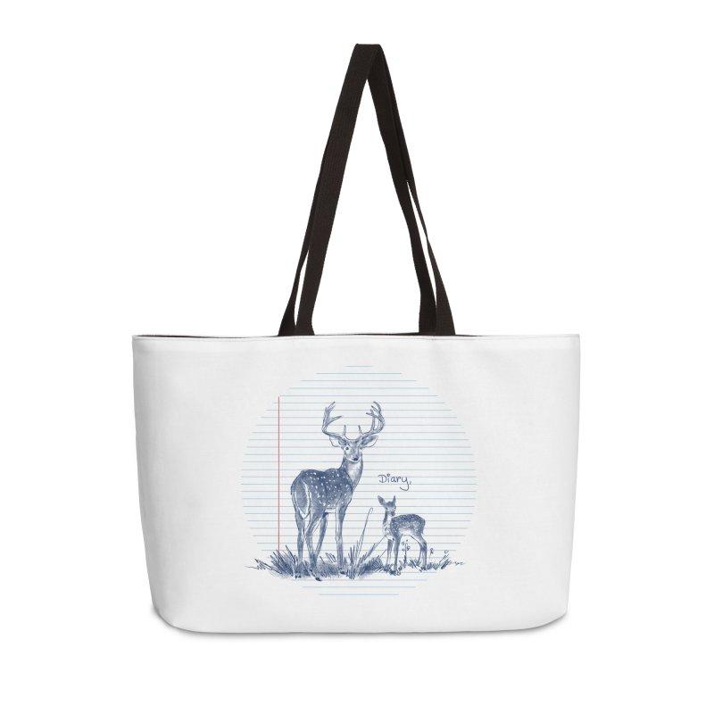 Deer Diary, Accessories Weekender Bag Bag by kooky love's Artist Shop