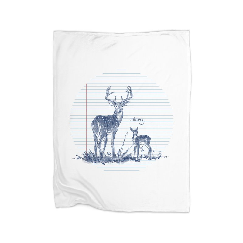Deer Diary, Home Fleece Blanket Blanket by kooky love's Artist Shop