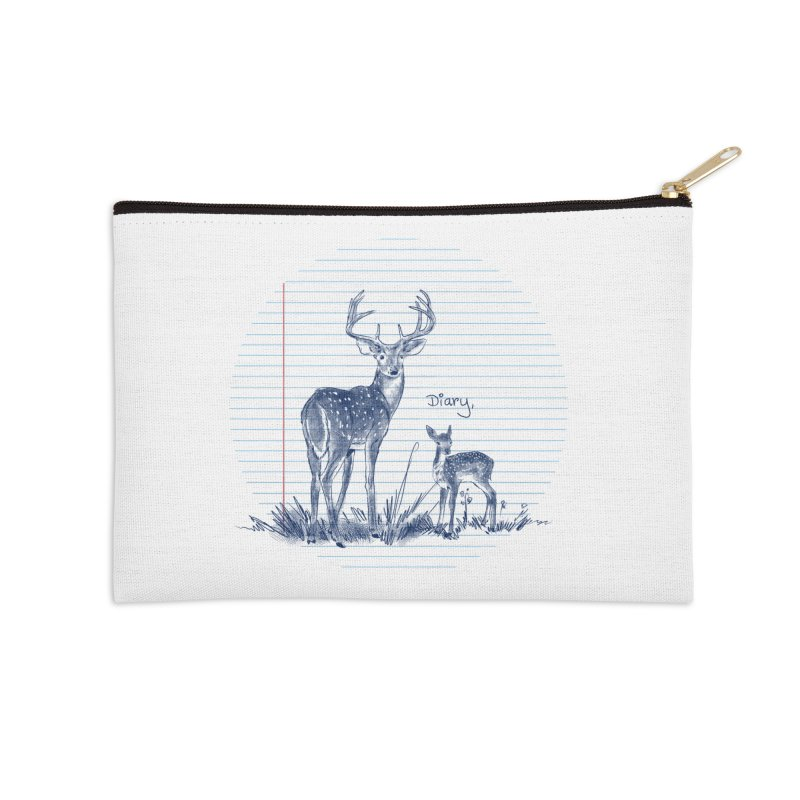 Deer Diary, Accessories Zip Pouch by kooky love's Artist Shop