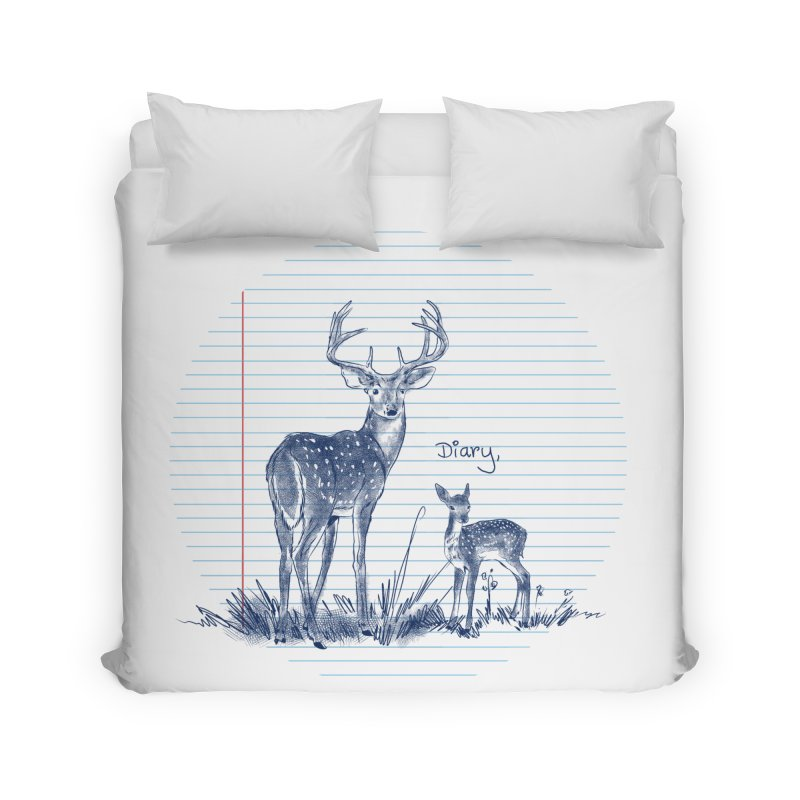 Deer Diary, Home Duvet by kooky love's Artist Shop