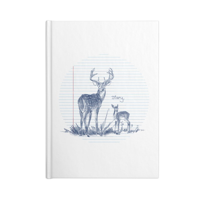 Deer Diary, Accessories Lined Journal Notebook by kooky love's Artist Shop